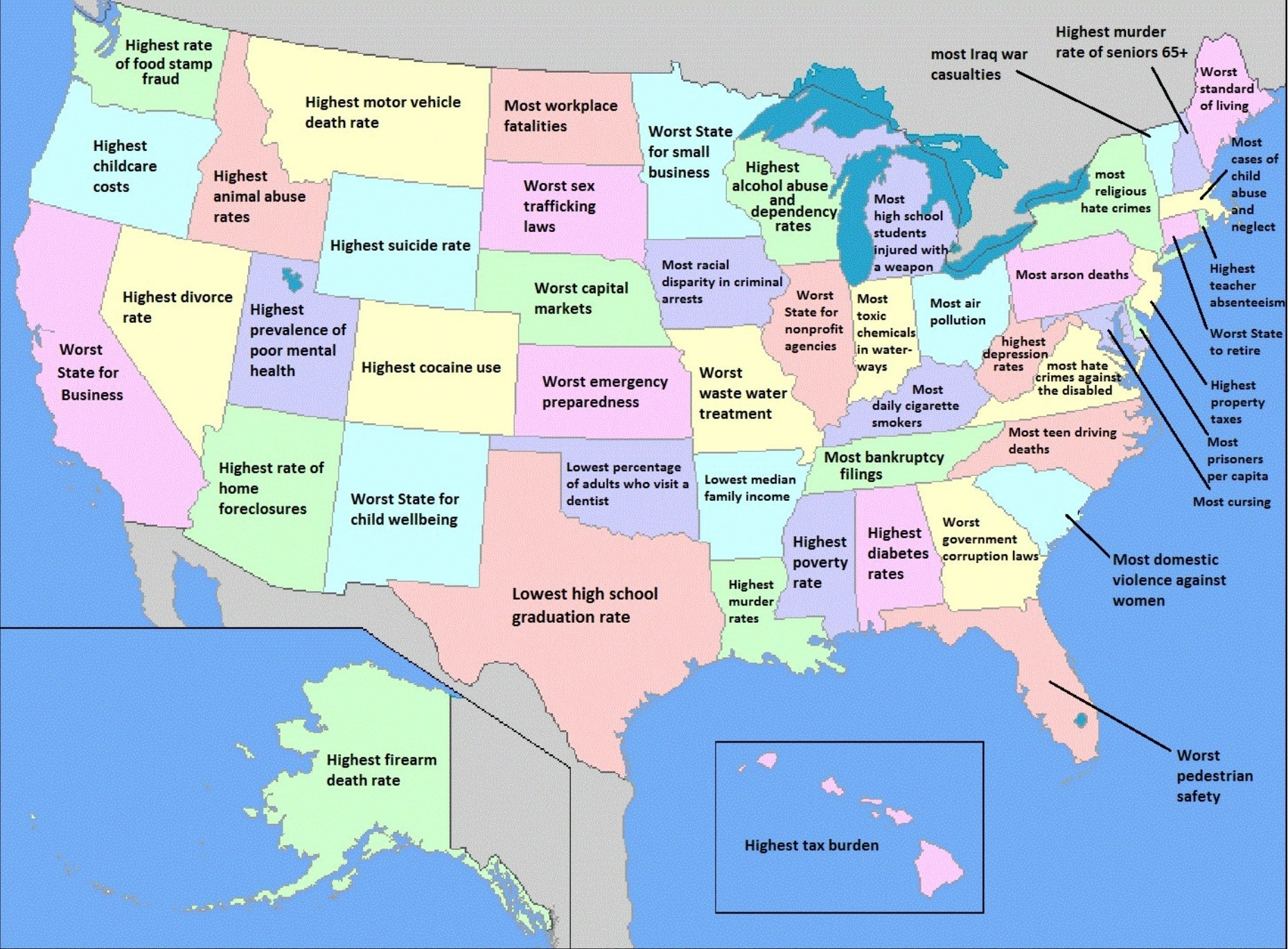 North America States Map My Blog - Map of states of america